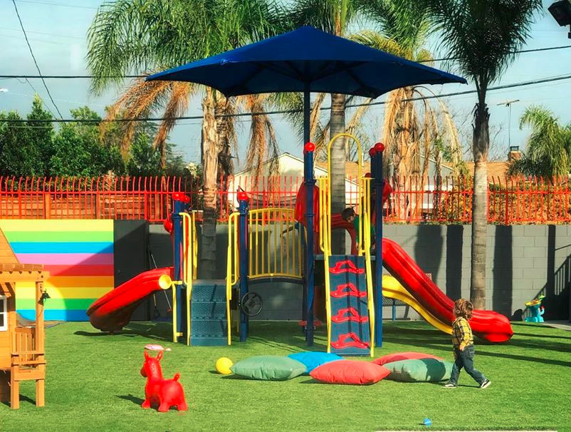 colorful playground at a Preschool & Daycare Serving North Hollywood & Santa Monica, CA