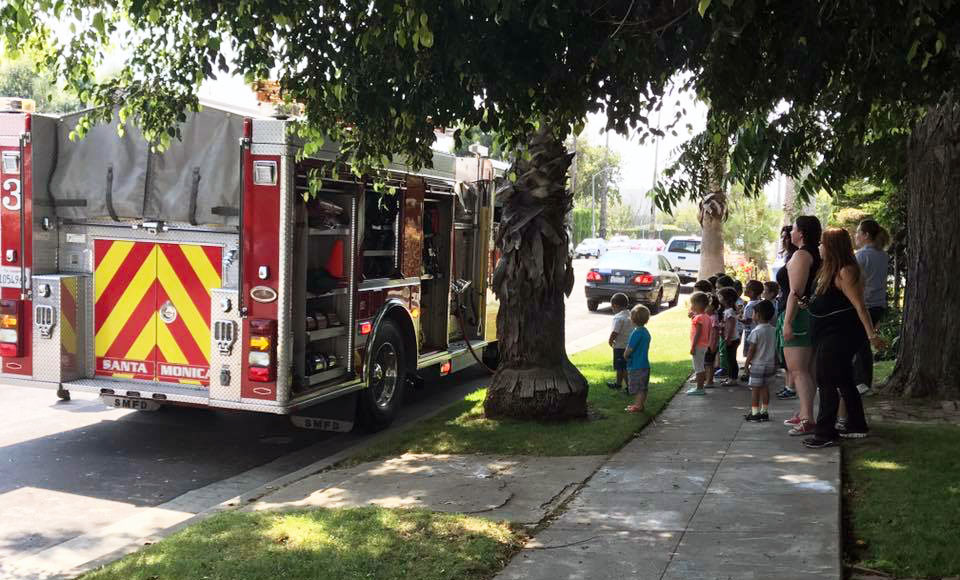 firetruck at a Preschool & Daycare Serving North Hollywood, Santa Monica & Van Nuys, CA