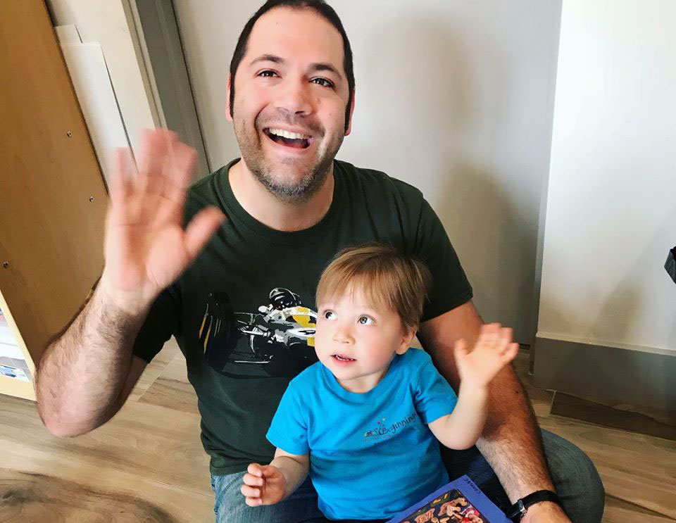 happy dad and toddler at a Preschool & Daycare Serving North Hollywood, Santa Monica & Van Nuys, CA