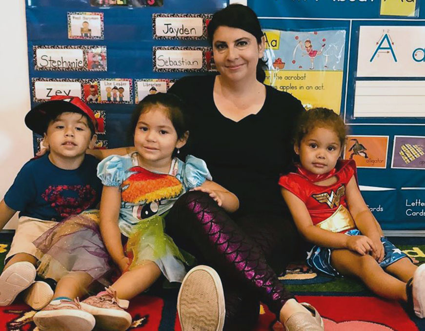 teacher and kids at a Preschool & Daycare Serving North Hollywood, Santa Monica & Van Nuys, CA